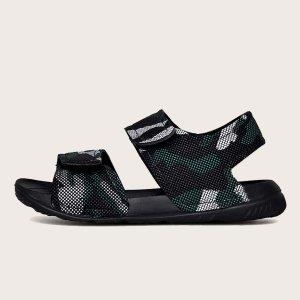 Для мальчиков Спортивные сандалии с камуфляжным узором SHEIN. Цвет: чёрный