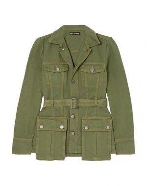 Джинсовая верхняя одежда HOUSE OF HOLLAND. Цвет: зеленый-милитари