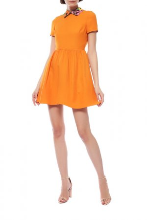Платье Valentino. Цвет: оранжевый