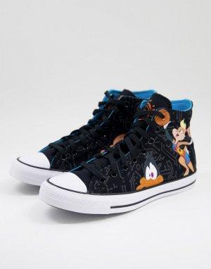 Черные высокие кроссовки Chuck Taylor All Star Space Jam: А New Legacy-Черный цвет Converse