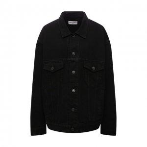 Джинсовая куртка Balenciaga. Цвет: чёрный