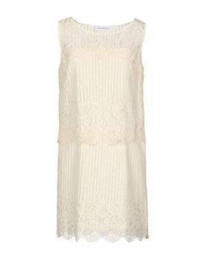 Короткое платье ANNA RACHELE JEANS COLLECTION. Цвет: слоновая кость
