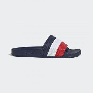 Шлепанцы Adilette Originals adidas. Цвет: красный