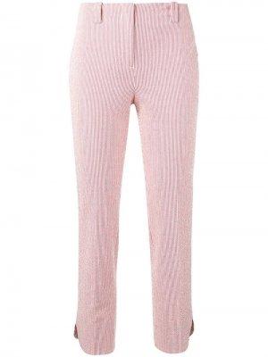 Классические брюки чинос Incotex. Цвет: красный
