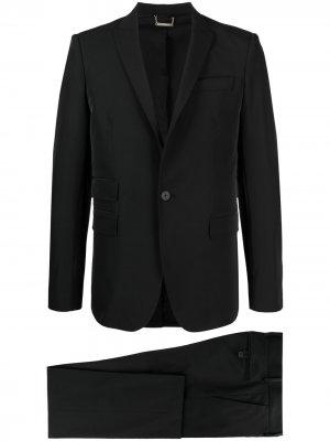 Костюм-двойка с однобортным пиджаком Les Hommes. Цвет: черный