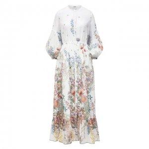 Хлопковое платье Charo Ruiz Ibiza. Цвет: разноцветный