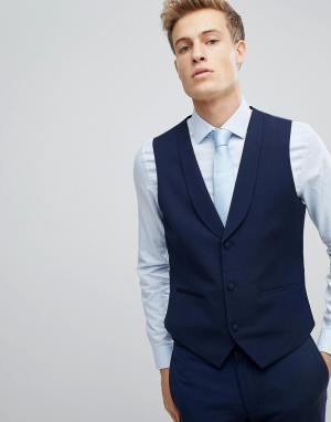 Облегающий жилет -Темно-синий Burton Menswear