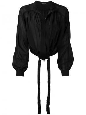 Укороченная куртка на молнии Ann Demeulemeester