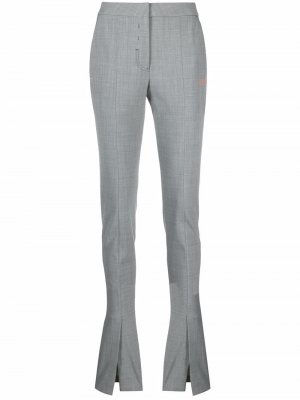 Split flared trousers Off-White. Цвет: серый