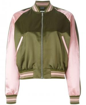 ALEXANDER MCQUEEN embroidered bomber jacket. Цвет: зелёный