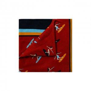 Хлопковое полотенце Dolce & Gabbana. Цвет: красный