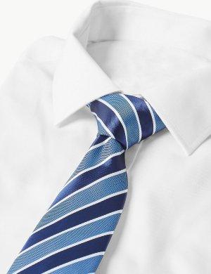 Классический галстук в полоску M&S Collection. Цвет: синий микс