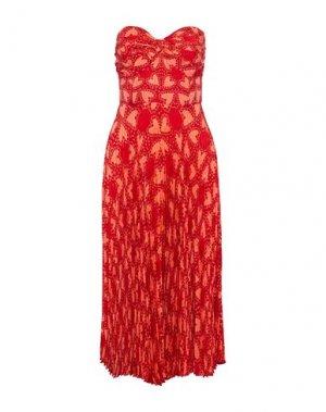 Платье до колена ANNA SUI. Цвет: красный
