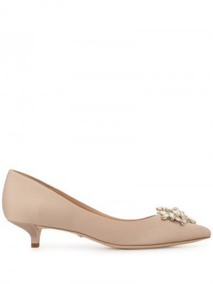 Туфли на каблуке-рюмке Badgley Mischka. Цвет: розовый