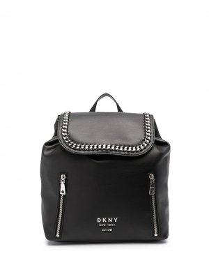 Рюкзак Alixis с цепочкой DKNY. Цвет: черный серебристый