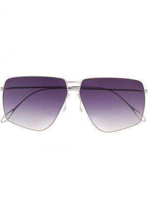 Солнцезащитные очки-авиаторы Haffmans & Neumeister. Цвет: серебристый