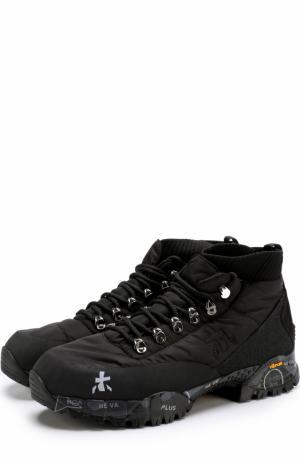 Комбинированные ботинки Loutreck Premiata. Цвет: чёрный