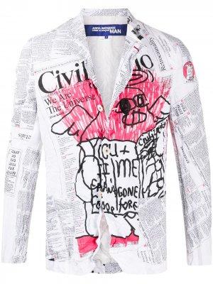 Пиджак с принтом Junya Watanabe MAN. Цвет: белый