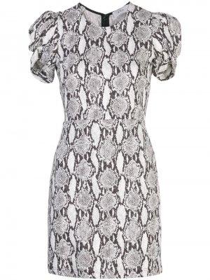 Платье с короткими рукавами и змеиным принтом A.L.C.