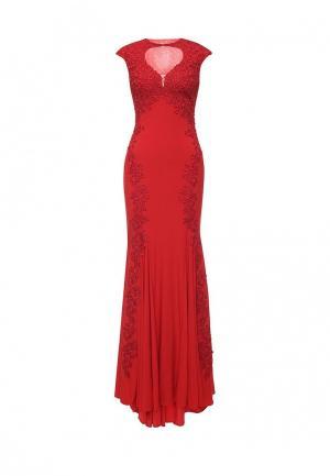 Платье Bebe BE007EWOOO66. Цвет: красный