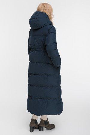 Пуховик трапеция для зимы итальянского бренда ADD. Цвет: темно-синий