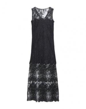 Длинное платье HOTEL PARTICULIER. Цвет: черный