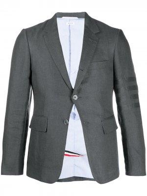 Пиджак с полосками 4-Bar Thom Browne. Цвет: 025 dark grey