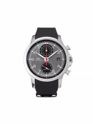 Наручные часы Portugieser Yacht Club Chronograph pre-owned 43 мм 2019-го года IWC Schaffhausen. Цвет: серый