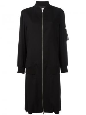 Длинная куртка бомбер McQ Alexander McQueen. Цвет: чёрный