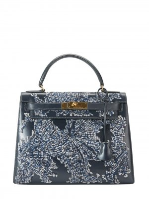 Hermès Kelly tote bag Jay Ahr. Цвет: голубой