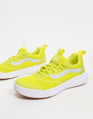 Желтые кроссовки на резиновой подошве ultra range-Желтый Vans