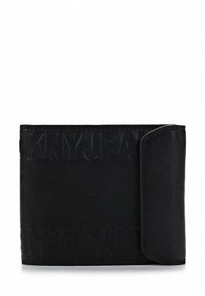 Кошелек DKNY Jeans DK007BMAKH89. Цвет: черный