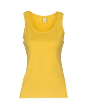 Майка VILA. Цвет: желтый