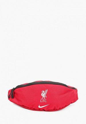 Сумка поясная Nike LFC NK HIP PACK - FA20. Цвет: красный