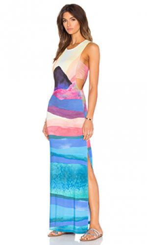 Макси платье с завязкой сзади Mara Hoffman. Цвет: синий