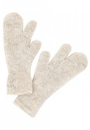Перчатки MM6 Maison Margiela. Цвет: белый