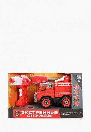 Игрушка радиоуправляемая 1Toy Экстренные службы пожарн. грузовик на р/у. Цвет: красный