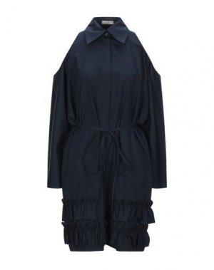 Короткое платье NINA RICCI. Цвет: темно-синий