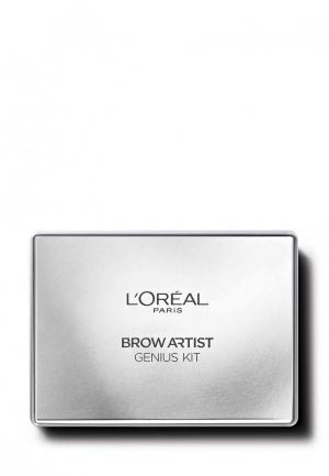 Тени для бровей LOreal Paris L'Oreal Brow Artist, оттенок 01, светло-коричневый, 52 г. Цвет: коричневый