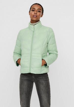 Куртка утепленная Vero Moda. Цвет: зеленый