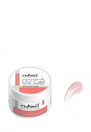Гель-лак для ногтей Runail Professional Камуфлирующий (цвет: Чайная роза, Tea-rose), 15 г. Цвет: розовый