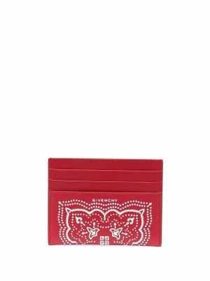 Картхолдер с принтом Givenchy. Цвет: красный