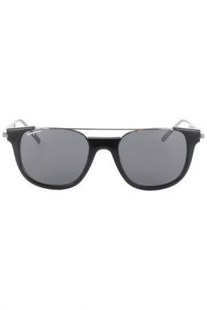 Очки солнцезащитные Salvatore Ferragamo. Цвет: черный, серебряный