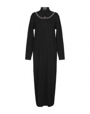 Длинное платье DANIELA DREI. Цвет: черный