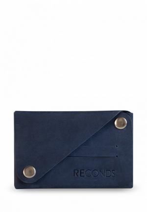 Кошелек Reconds Compact. Цвет: синий