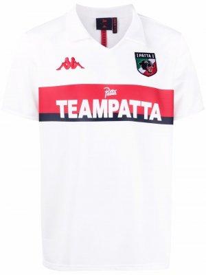 Logo-print short-sleeved polo shirt Kappa. Цвет: белый