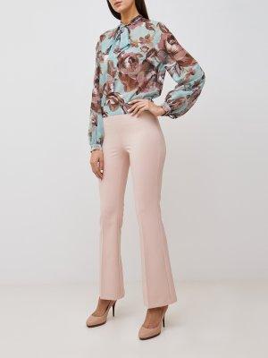 Расклешенные брюки Rinascimento. Цвет: bezhevyy