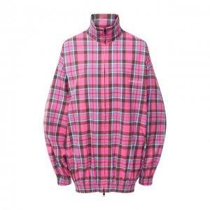 Хлопковая куртка Balenciaga. Цвет: розовый