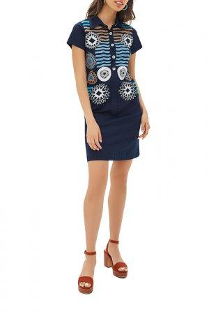 Платье Almatrichi. Цвет: синий