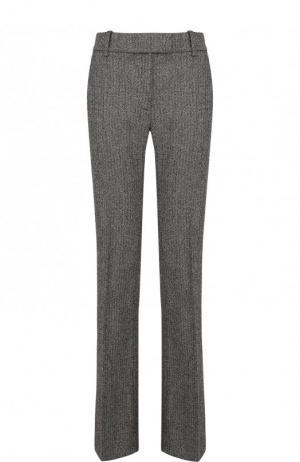 Расклешенные брюки из смеси шерсти и шелка со стрелками Tom Ford. Цвет: черно-белый